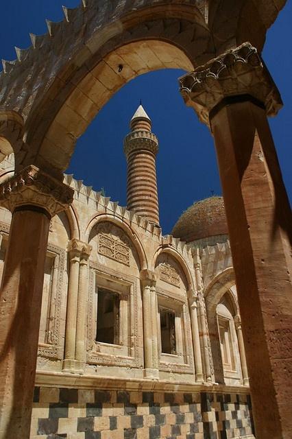 Interior of Ishak Pasha Castle - Turkey