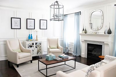 AM Dolce Vita, Living Room Design, Full Wall Wainscoting | AM Dolce Vita |  Pinterest