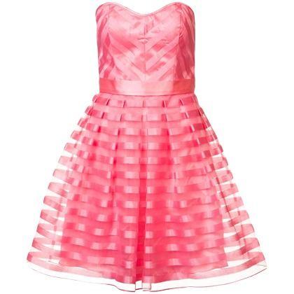 Pinkes Kleid mit Streifenmuster ab149,95€ ♥ Hier kaufen: http://stylefru.it/s216796 #bustier #kleid #organza
