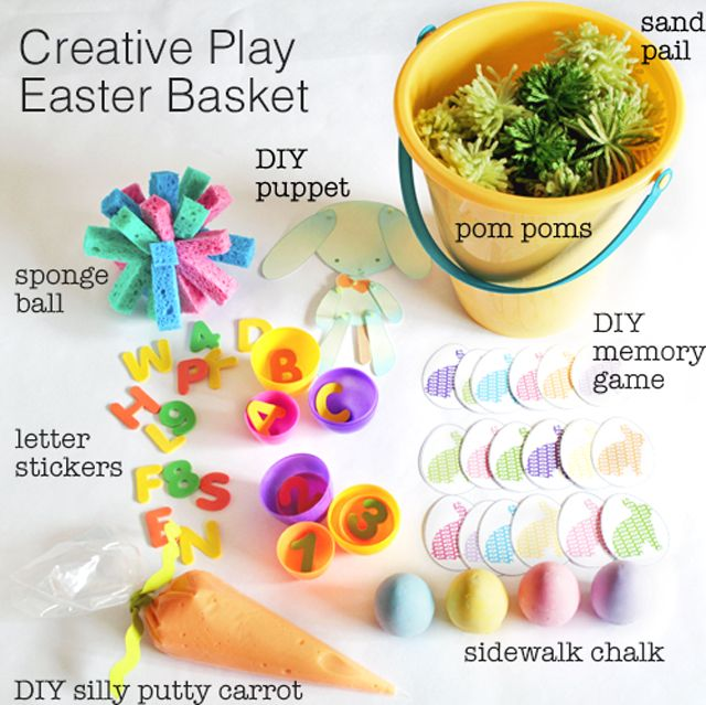 creative play easter basket: Holiday, Plays, Easter Baskets, Play Easter, Easter Basket Ideas, Kid, Easter Ideas