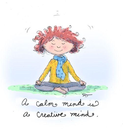 Buddha Doodles: A calm mind is a creative mind.
