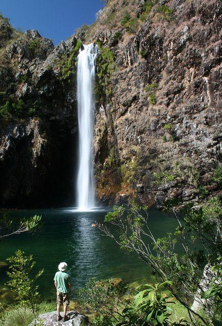 Fundão waterfall in Parque Nacional da Serra da Canastra, Minas Gerais, Brazil…