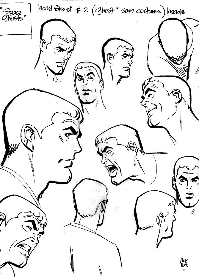 Space Ghost Model Sheet No MASK