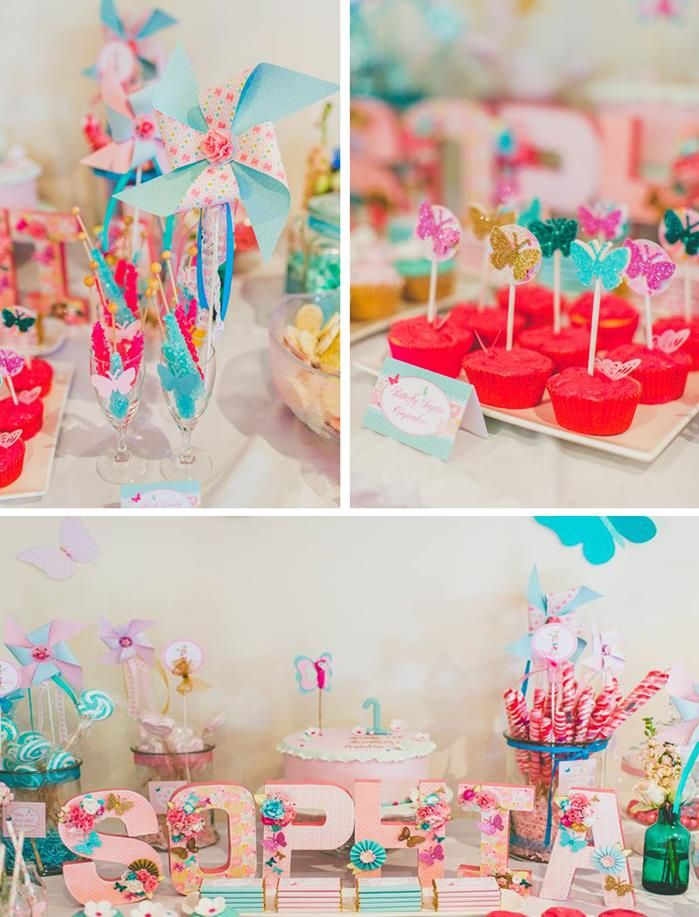 Butterfly Themed 1st Birthday Party with Lots of Cute Ideas via Kara's Party Ideas | KarasPartyIdeas.com #Butterflies #1stBirthday #Party #Ideas #butterflypartyideas: 1St Birthday Parties, Butterfly Birthday Party Ideas, Cute Ideas, Party Stuff, 1St Birthdays, Butterfly Party Ideas, Birthday Ideas