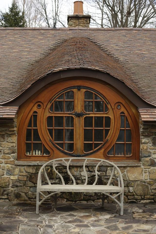 Beautiful custom Hobbit House window