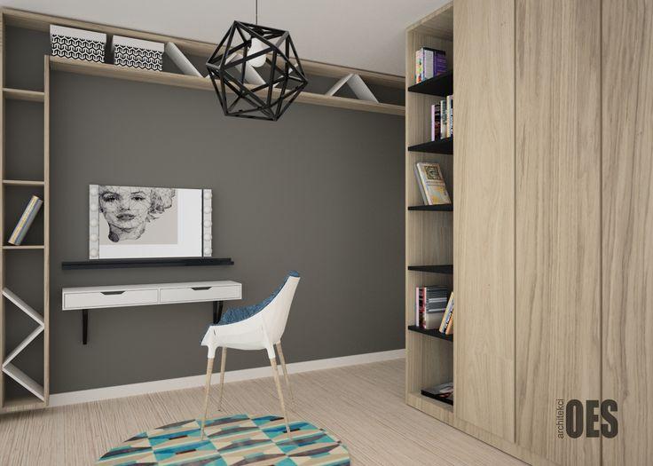 #drewnianepółki drewniane półki pod sufitem, drewniana szafa, garderoba