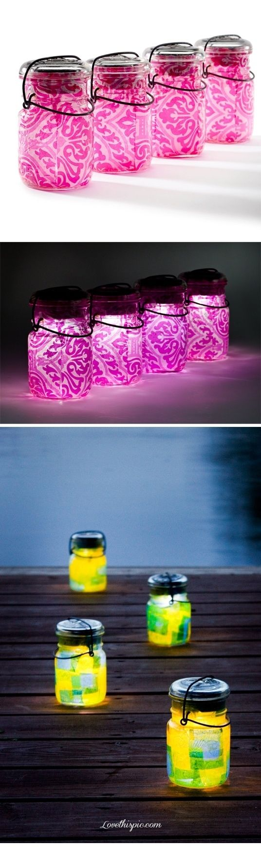 Outdoor Party Glowing Jars party lights outdoor jars glow party ideas parties glowing party idea party idea images party idea photo party idea photos party images party photos
