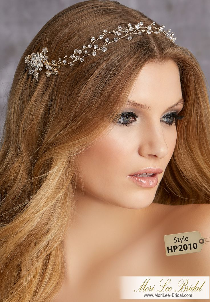 STYLE HP2010Crystal and Rhinestone Hair VineAvailable in Gold, Silver