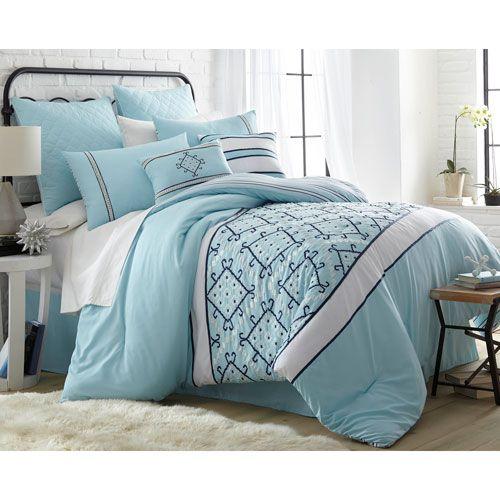 arizona blue eightpiece california king comforter set