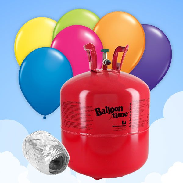 Helium Helium Canister - For 30 Balloons   30 x Latex Balloons
