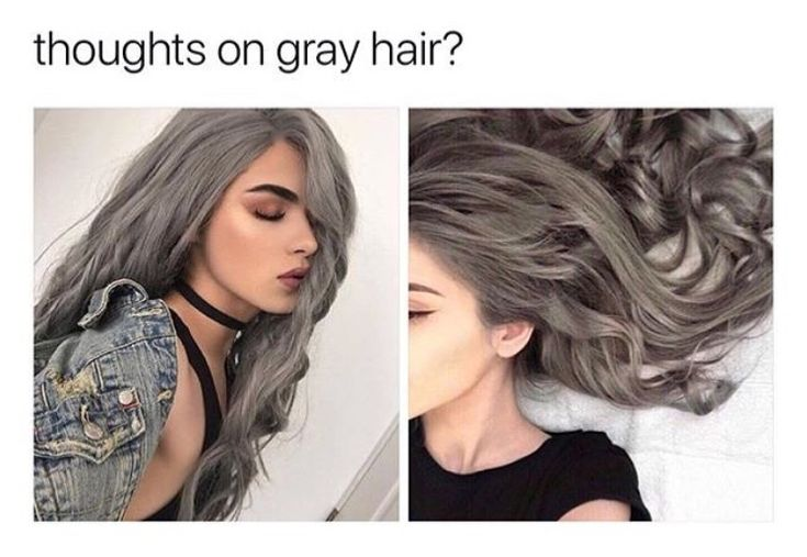 Grey hair is trendy now and idk how I feel bout that  acc yes I do I think it's awesome !! Grey hair, silver fox, hair hacks, healthy hair, natural curls, natural curls overnight, natural waves, wavy hair overnight, eyeshadow. {ig: slayiness}