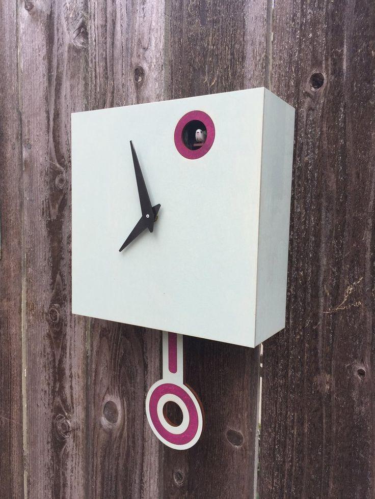 Modern Cuckoo Clock - Driftwood