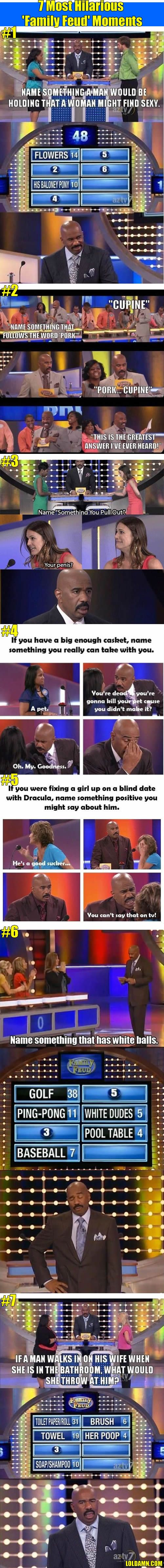 7 Most Hilarious 'Family Feud' Moments. Love Steve Harvey!!'