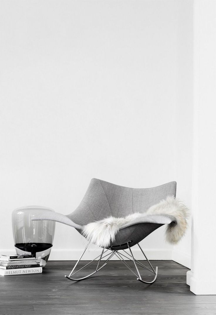 Schaukelstuhl swing insp eames rocking chair rar ahorn - Fauteuil Design Scandinave Mod Le Stingray Bascule Et Pi Tement En M Tal