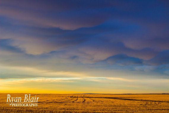 """Dissipating Storm over Alberta Prairies by RyanBlairPhotography. A 16x24"""" glossy photo heading to a local to my hometown!"""