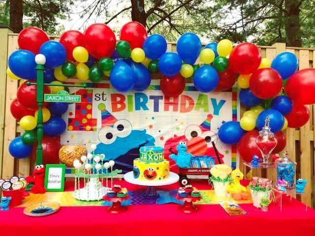 Ideas Para Fiesta De Elmo Y Sus Amigos De Plaza Sesamo Fiesta De Elmo Cumpleanos De Elmo Como Decorar Fiestas Infantiles