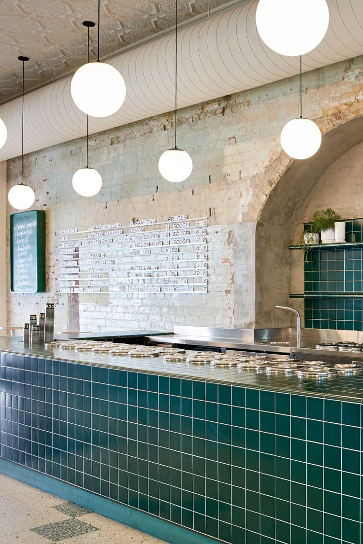 Piccolina Gelateria by Hecker Guthrie References 1950s Southern Italy.
