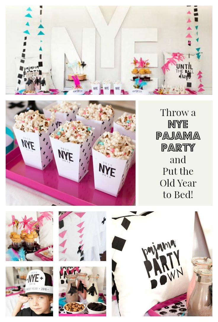 Everything you need for the perfect NYE Pajama Party