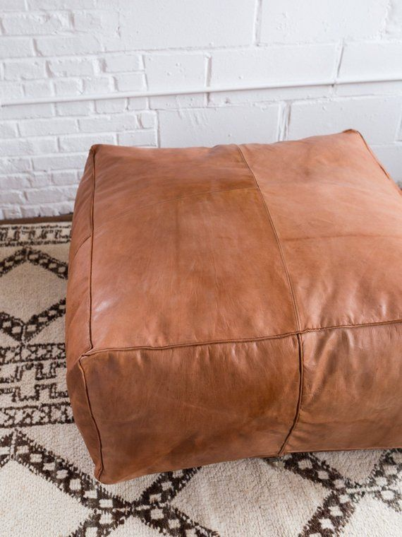 Oversized Moroccan Leather Coffee Table