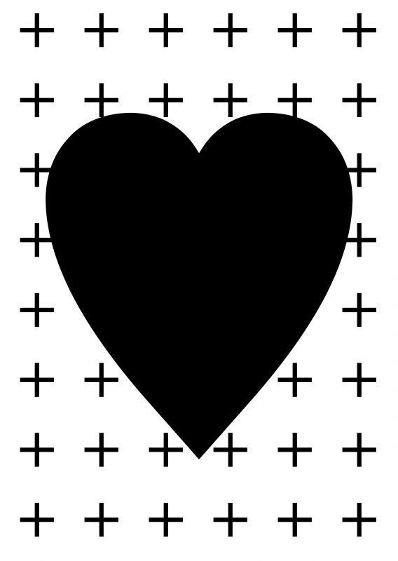 card | black & white