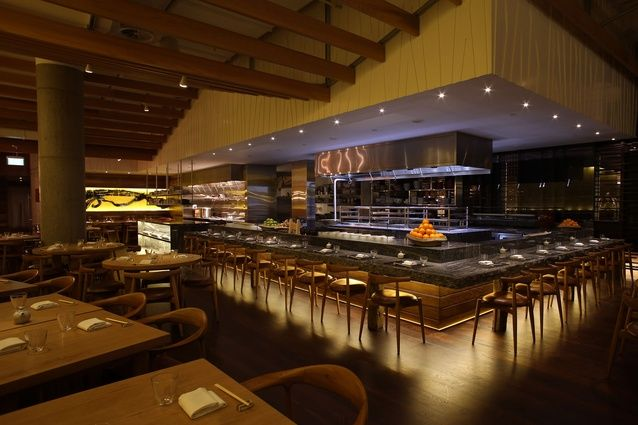 Moller Architects bring earthy touch to the SkyCity's latest upscale addition: the Japanese restaurant Masu.