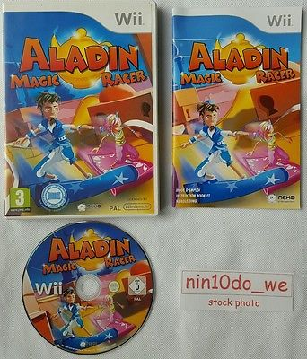 ALADIN MAGIC RACER (Wii) *RARE*-ALADDIN GENIE+CARPET-BOARD COMPATIBLE=NEAR MINT✔