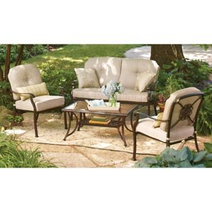 Better Homes And Gardens Bellerive Park 4 Piece Conversation Set. Getting  Ready For A. Inexpensive PatioPatio ...