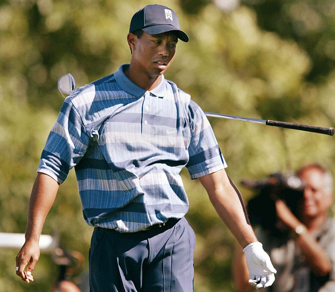 By this point in 2002, Woods had eight major titles. Heading into the final round at Hazeltine, Tiger was five shots back of Justin Leonard's lead, but birdied the final four holes of the tournament to post the clubhouse lead. However, Rich Beem, three back through 54, shot a final-round 68 to edge Woods by a single stroke.