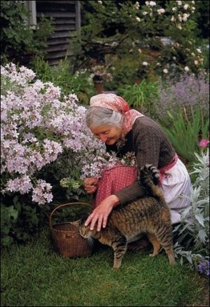 Tasha Tudor, lover of animals.