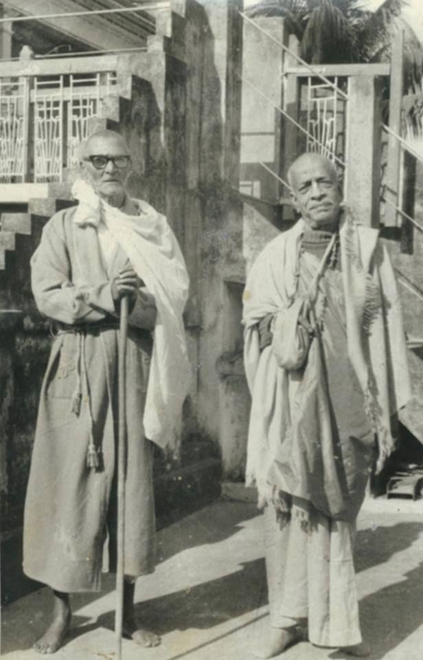 Srila Prabhupada and Srila Sridhar Maharaj