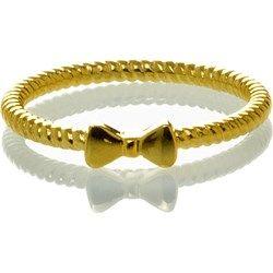 Pierścionek / złocenie / twisted bow