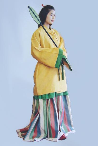 Ancient Japanese Women's Clothing, Asuka Period (538 A.D. - 710 A.D.)