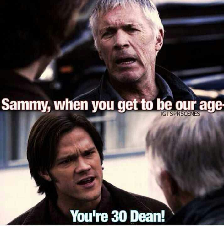 """""""You're 30, Dean!"""" - 5.07 The Curious Case of Dean Winchester #S5 #SPNS5 #Supernatural"""