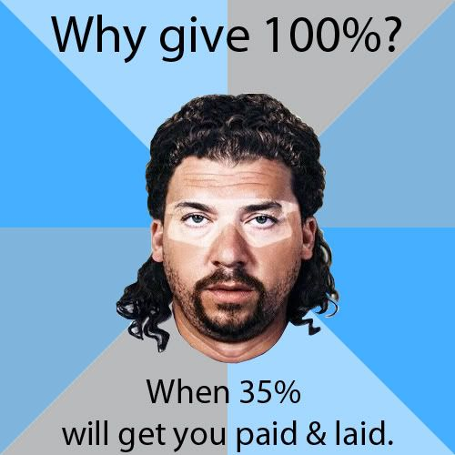 I don't know who this is, but this is funny...Kenny Powers is the man.