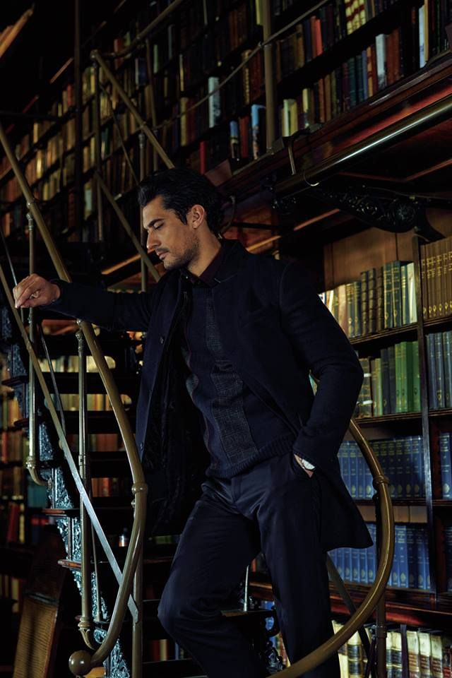 David Gandy @davidjamesgandy for @SELECTED_FH F/W 2014 DAVID GANDY AND BOOKS!!! ahhh