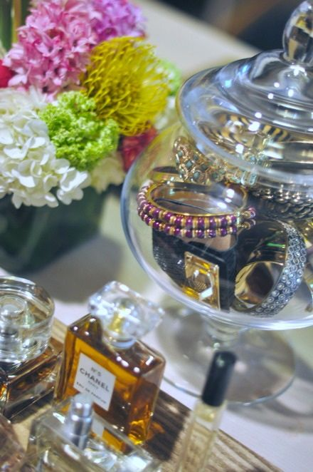 Organize your bracelets in a pretty jar
