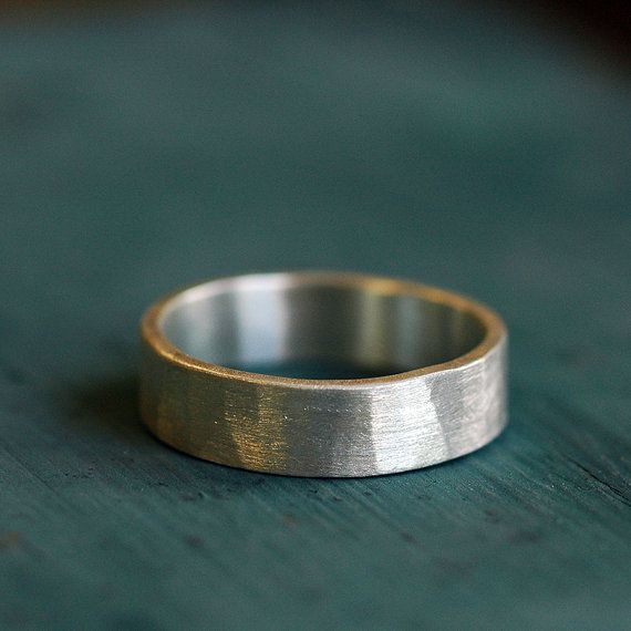 wide band silver wedding rings