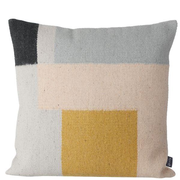 Kelim cushion, Squares, by Ferm Living.