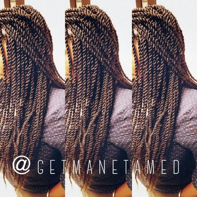 Small marley twists with marley hair. Two Strand Twists/Rope Twists/ protective styles. Follow me on instagram @getmanetamed.