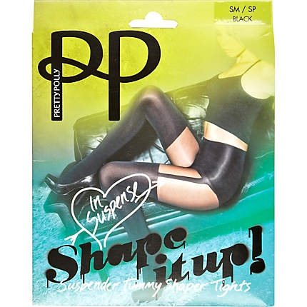 Black Pretty Polly shaper suspender tights £12.00