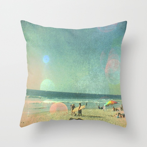 For a beach / coastal themed room - Surfer Throw Pillow by Alysia Cotter Photography | Society6