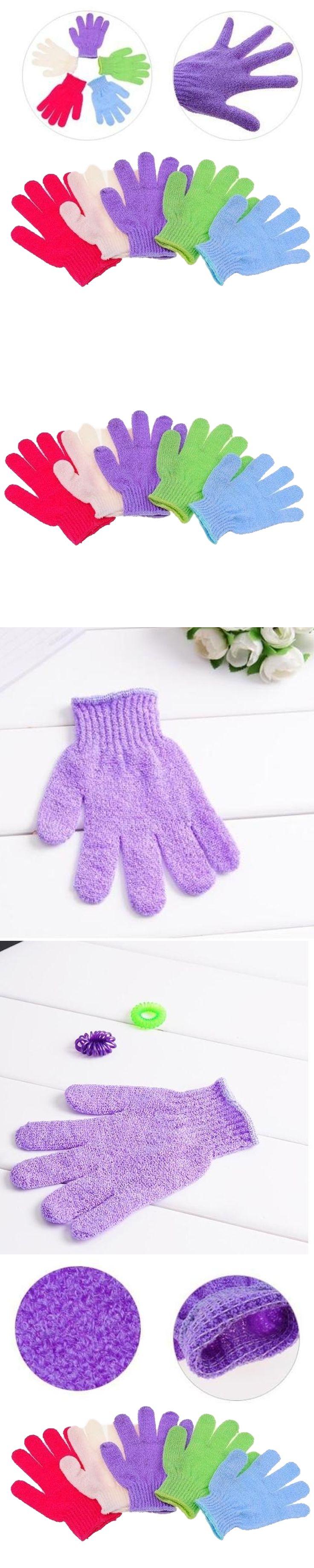 Hot 1PC Shower Bath Gloves Exfoliating Wash Skin Spa Massage Body Scrubber Cleaner Bath Glove