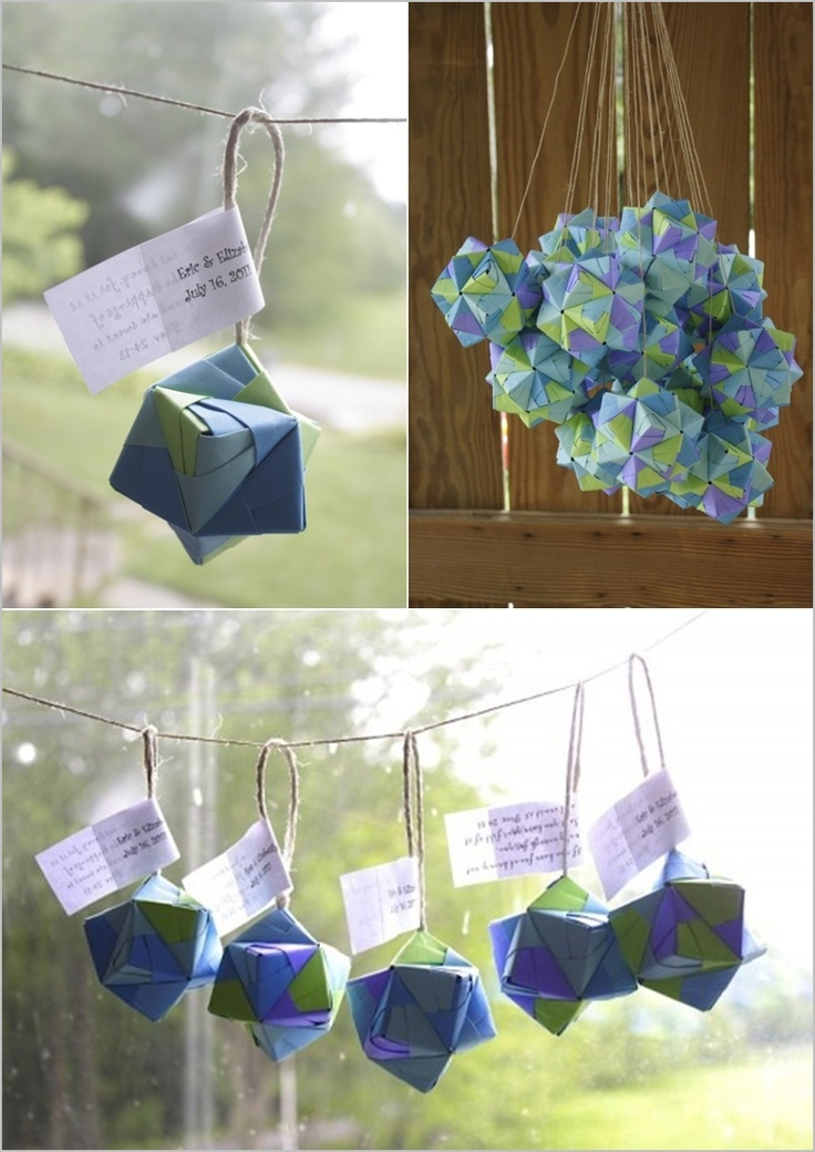 origami favours