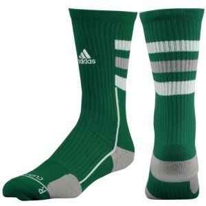 adidas Team Speed Crew Sock - Men's - Basketball - Accessories - Forest/Aluminum/White