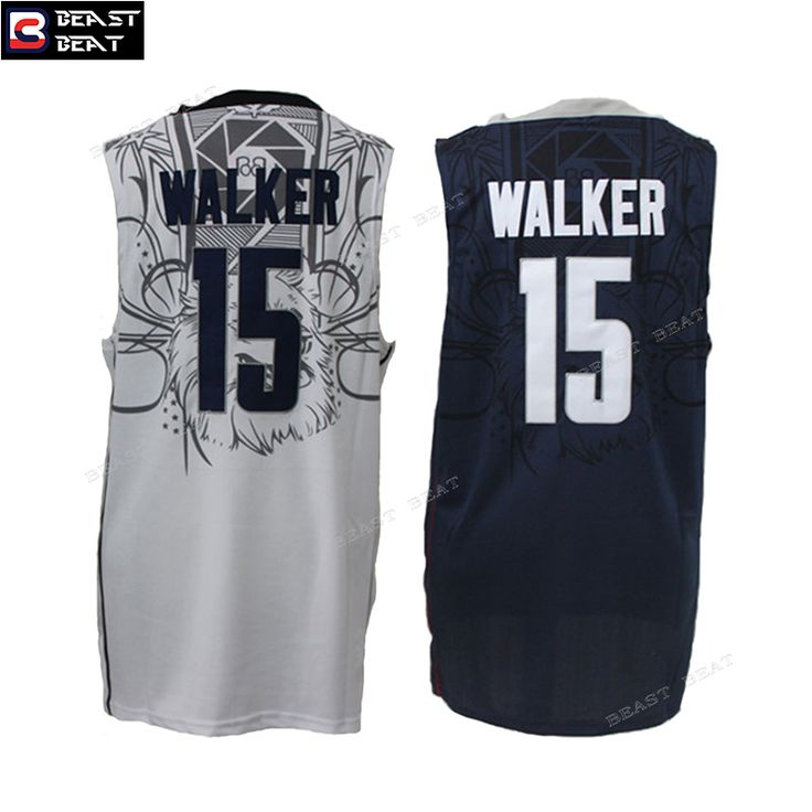 c58ce5e01bf2 ... Kemba Walker 15 UCONN University Basketball Jerseys Throwback Cheap  Original NBA Jerseys NCAA ...