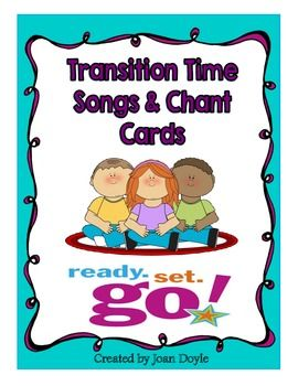 Transition songs and chants will remind children of the behaviors you expect and will allow them the opportunity to self-correct in a playful but positive manner.  There are 11 different classroom routines and a total of 75 chants and songs in this unit. Classroom management is the key to learning!