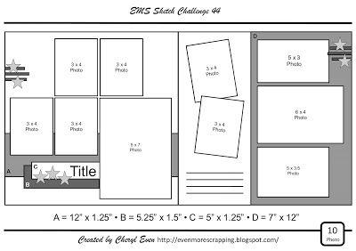 Even More Scrapping!: EMS Sketch Challenge 44 - Memorial Day Bonus