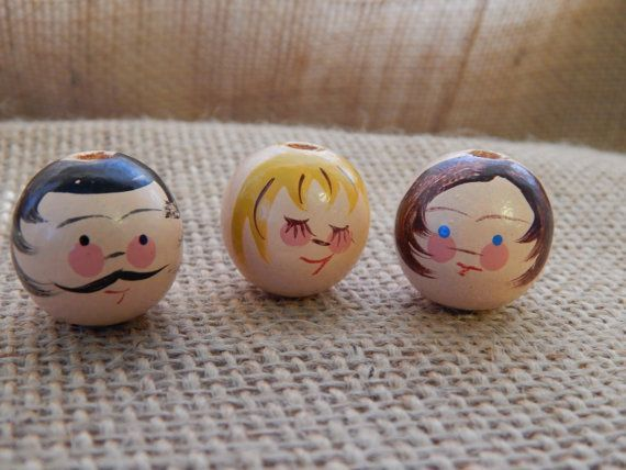 Vintage Wooden Doll Heads Art Projects Clothespin Dolls Doll