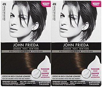 John Frieda Precision Foam Hair Colour, Dark Natural Brown 4N, 2 pk Review