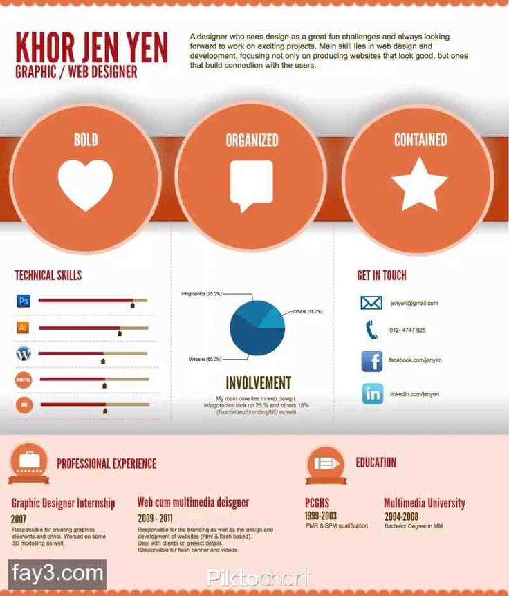 15 best Infographics CV images on Pinterest Infographics, And - infographic resume creator